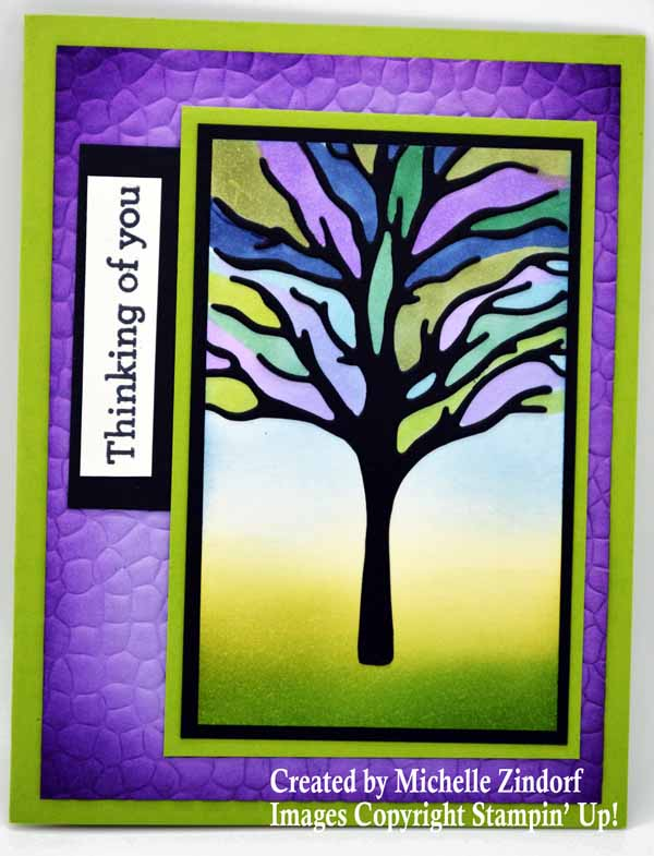 Easy Faux Stain Glass Tree